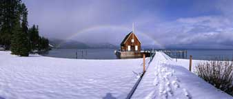 Winter Rainbow, Chambers Landing